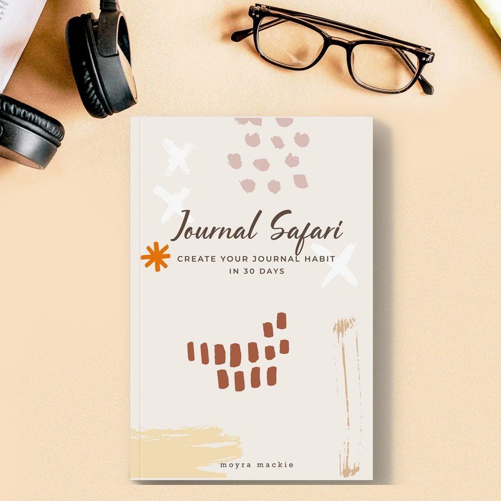 Journal safari journal on a desk